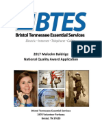 2017 Btes Baldrige Award Application Summary