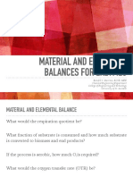 Elemental and Material Balance