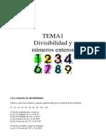 Ejercicios Divisibilidad y Números Enteros 2º eso