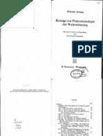 Schapp Beitraege Zur Phaenomenologie Der Wahrnehmung 1910