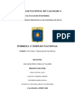Pobreza y Empleo Nacional (Cultura y Relidad Nacional)