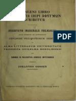 Gossen 1907 - De Galeni libro, qui Σύνοψις περὶ σφυγμῶν inscribitur
