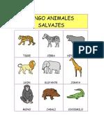 Bingo Animales Salvajes