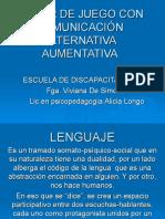 TALLER DE JUEGO CON COMUNICACIÓN ALTERNATIVA AUMENTATIVA