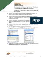verificação da configuração XP