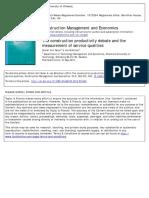 Sezer_2013_La Construcción Debate Sobre La Productividad y La Medición de Calidades de Servicio