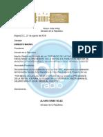 Uribe anuncia proyecto de ley para buscar aumento 'extraordinario' del salario mínimo