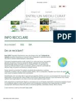 Info Reciclare ECOTIC - Deseuri DEE - Baterii