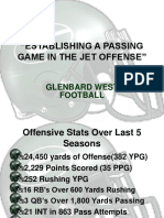 Establishing a Passing Game in the Jet Offense - Glenbard West HS (IL)