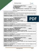 Planificacion Diaria 3º 2018 Lenguaje Mayo