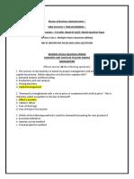 MBA105MB0042 –Managerial Economics.docx