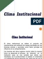 clima institucional