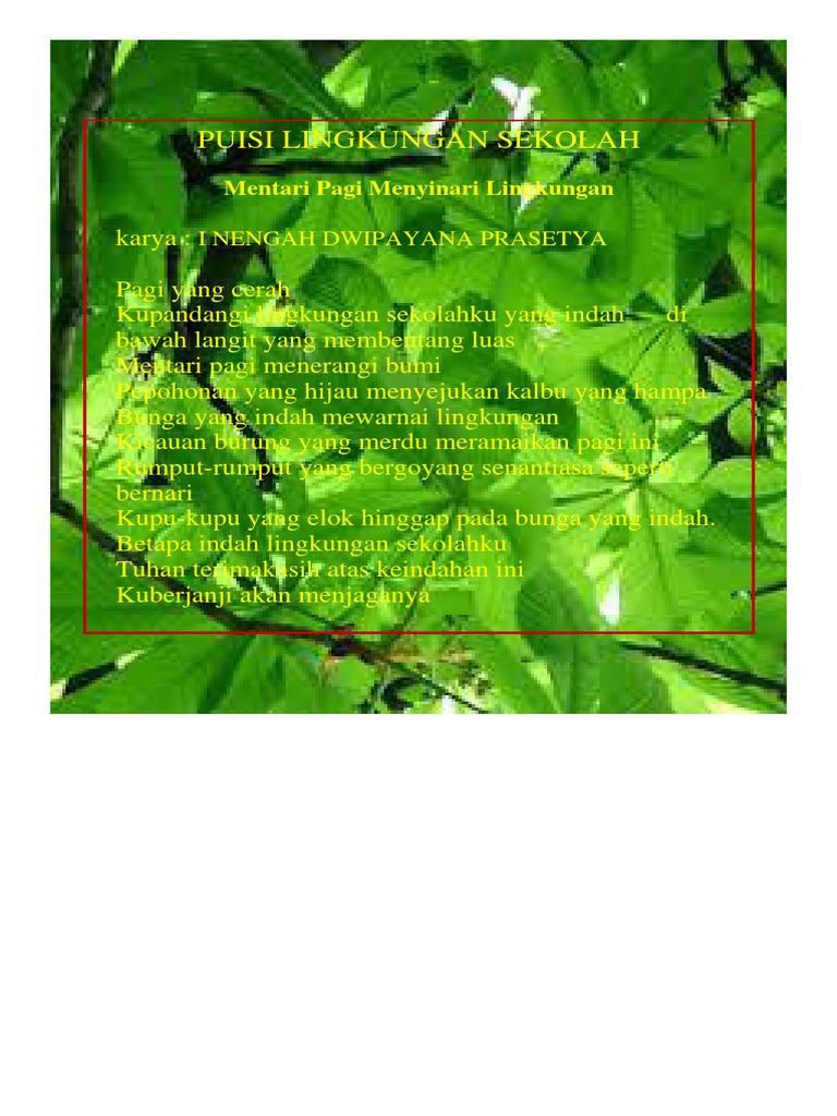 Puisi Lingkungan Sekolah