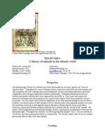 Programa de Disciplina a History of Animals in the Atlantic World
