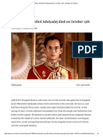 Obituary_ Bhumibol Adulyadej Died on October 13th - Modesty and Mystery