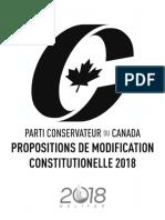 Congrès conservateur 2018 - Propositions de modification constitutionelle