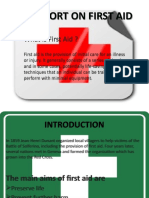 A REPORT ON FIRST AID.pptx