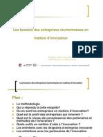Attentes des entreprises en matière d'innovation