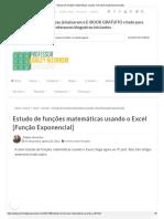 Estudo de Funções Matemáticas Usando o Excel [Função Exponencial]