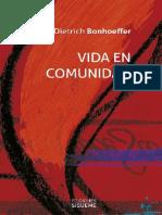 BONHOEFFER, Dietrich (2014). Vida en Comunidad