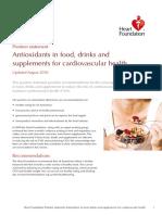 Antioxidants Position Statement