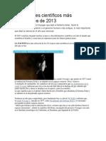Los Avances Científicos Más Importantes de 2013