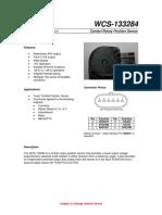 Hoja de Especificaciones Wm800 - Sensor de Velocidad