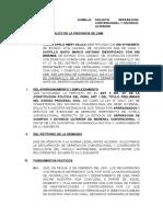 Solicitud y Declaraciones Juradas de Divorcio Ulterior Notarial