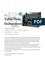 Omron CP1H Table Data Instructions _ Acc Automation