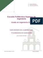 Guia Docente 339382201 - Procedimientos de Construccion - Curso 1718