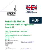 Darwin Initiative Guidance Round 25