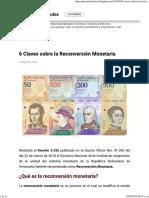 Reconversión Monetarias