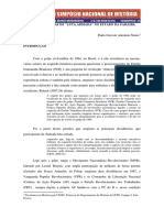 "As Experiências de ""Luta Armada"" No Estado Da Paraíba"