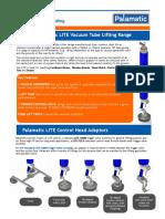 Palamatic LITE Vacuum Tube Lifter Datasheet
