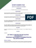 Ley de proteccion a testigos DECRETO DEL CONGRESO 70-96.doc