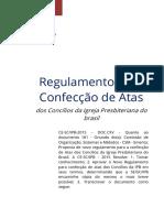 Regulamento Para Atas Eletrônicas - CE IPB 2015
