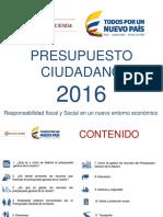 PRESUPUESTO CIUDADANO 2016