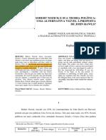 ROBERT NOZICK E SUA TEORIA POLÍTICA UMA ALTERNATIVA VIÁVEL A PROPOSTA  DE JOHN RAWLS, Raphael Brasileiro Braga