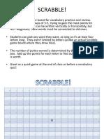 Vocabulary Scrabbleboard Scramble