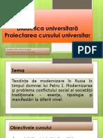 Cursul. Didactica Universitara