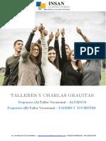 Formato - Propuesta Talleres Gratuitos - Colegios