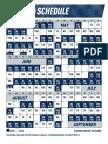 2019 Mariners Regular Season Schedule