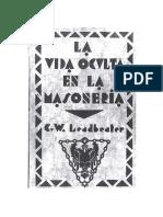 Vida Oculta en la Masoneria - C. W. Leadbeater.pdf