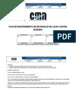 SSOMA-PL-02 Plan de Mantenimiento de Materiales de Lucha Contra Incendio
