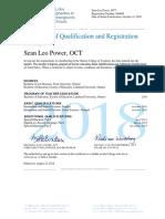 oct certificate 2018