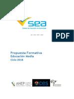 Propuesta Formativa Educación Media Ciclo 2018