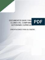 Orientaciones Para Documentos Base de Clubes