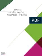 Descripcion Prueba de Diagnostico Matematica