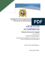 Artículos Acad UNMSM Lenguaje 16.7.18