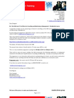 01 ILM Level 5 Certificate Enrolment Mar 2011 Residential